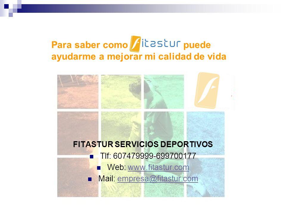 FITASTUR SERVICIOS DEPORTIVOS