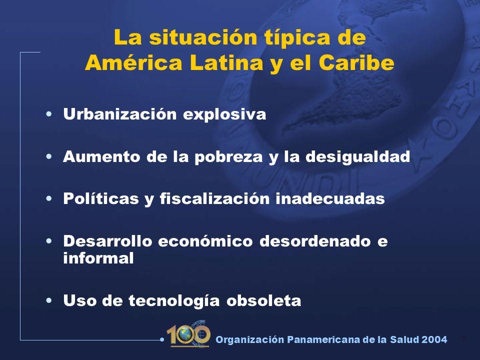 La situación típica de América Latina y el Caribe