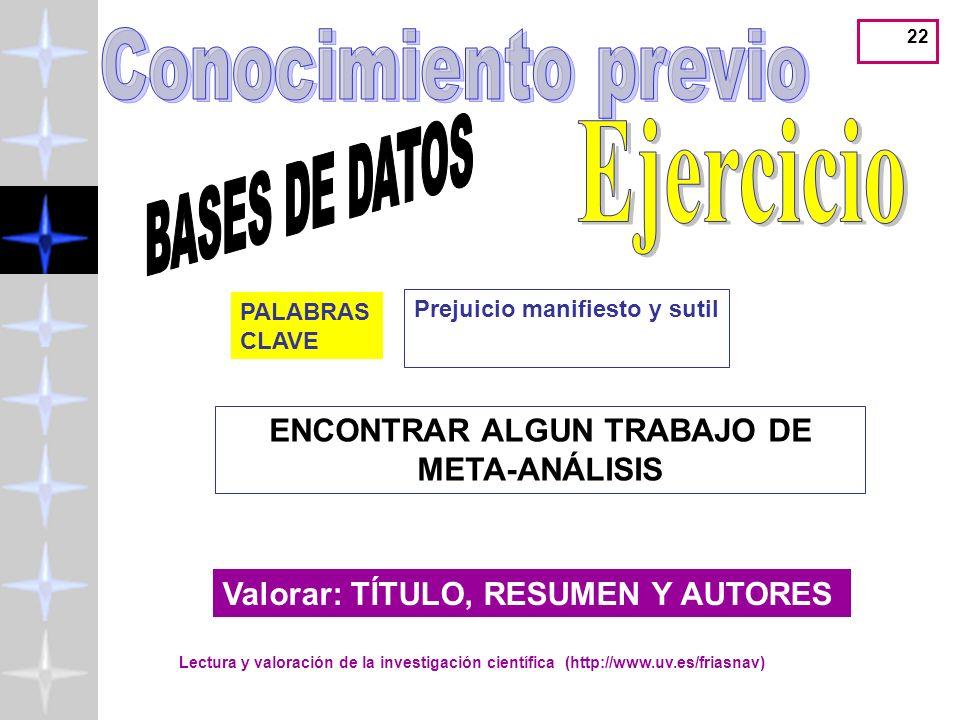 ENCONTRAR ALGUN TRABAJO DE META-ANÁLISIS