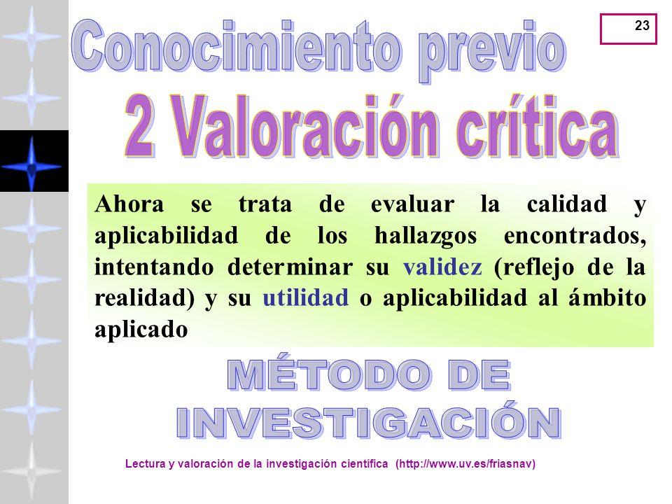 Conocimiento previo 2 Valoración crítica