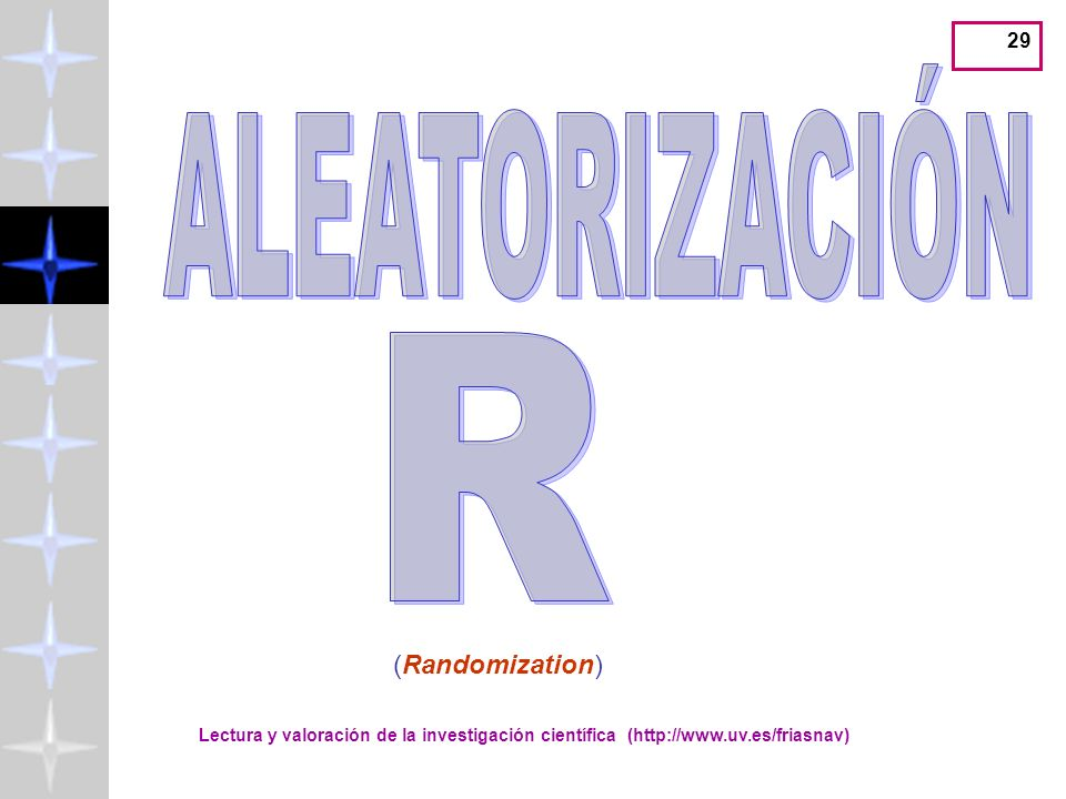 ALEATORIZACIÓN R (Randomization)