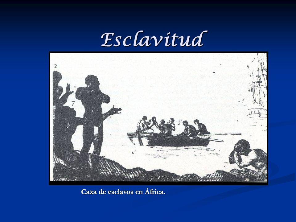 Esclavitud Caza de esclavos en África.