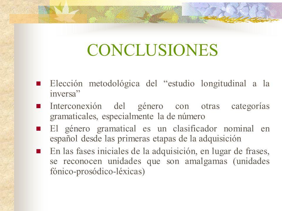 CONCLUSIONES Elección metodológica del estudio longitudinal a la inversa