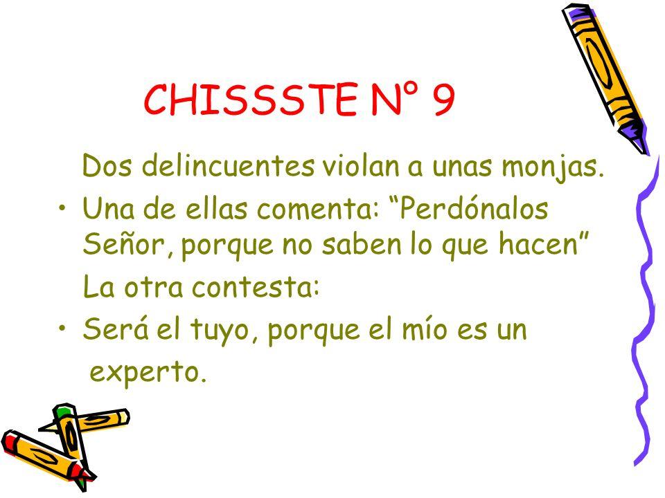 CHISSSTE N° 9 Dos delincuentes violan a unas monjas.
