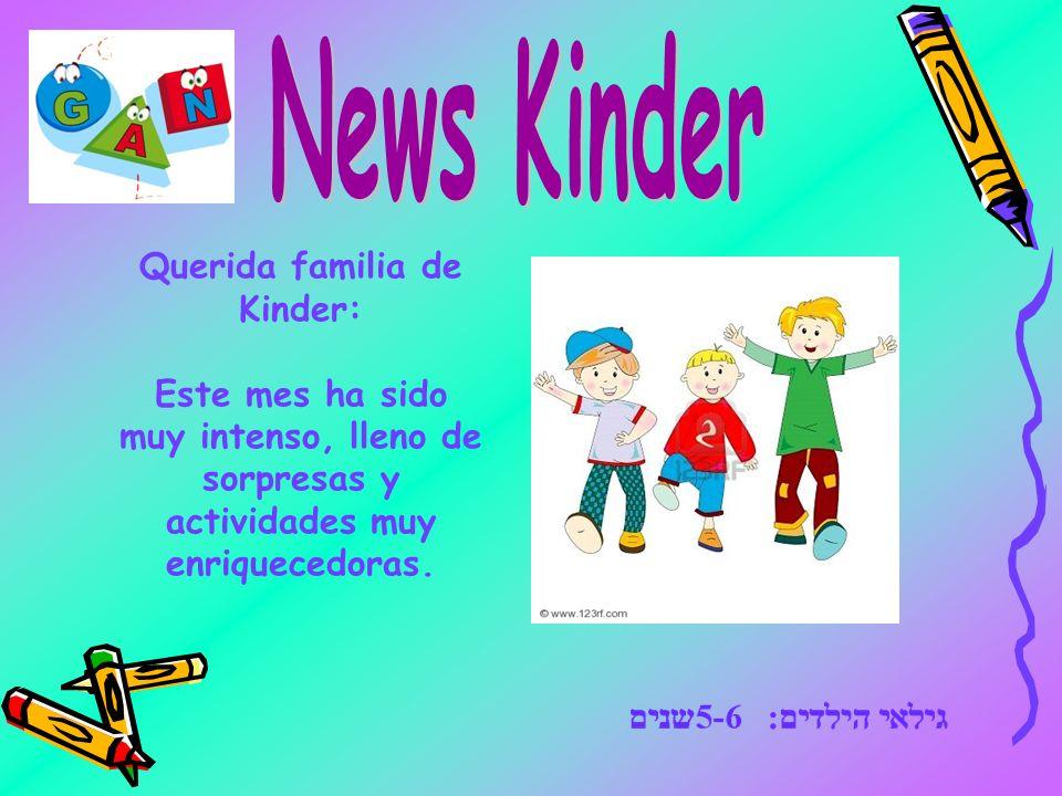 Querida familia de Kinder: