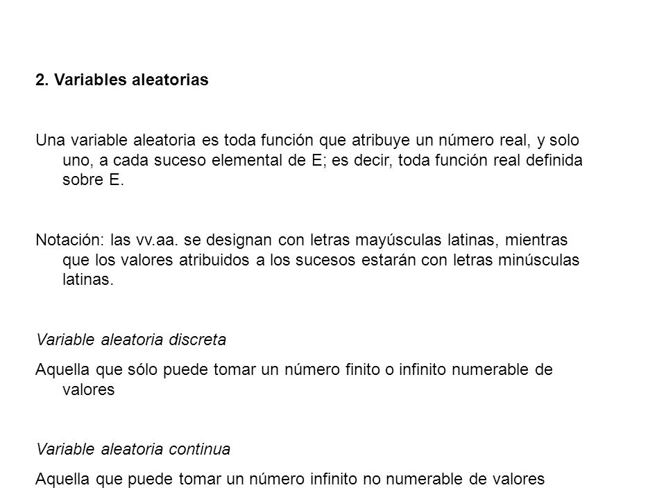 2. Variables aleatorias