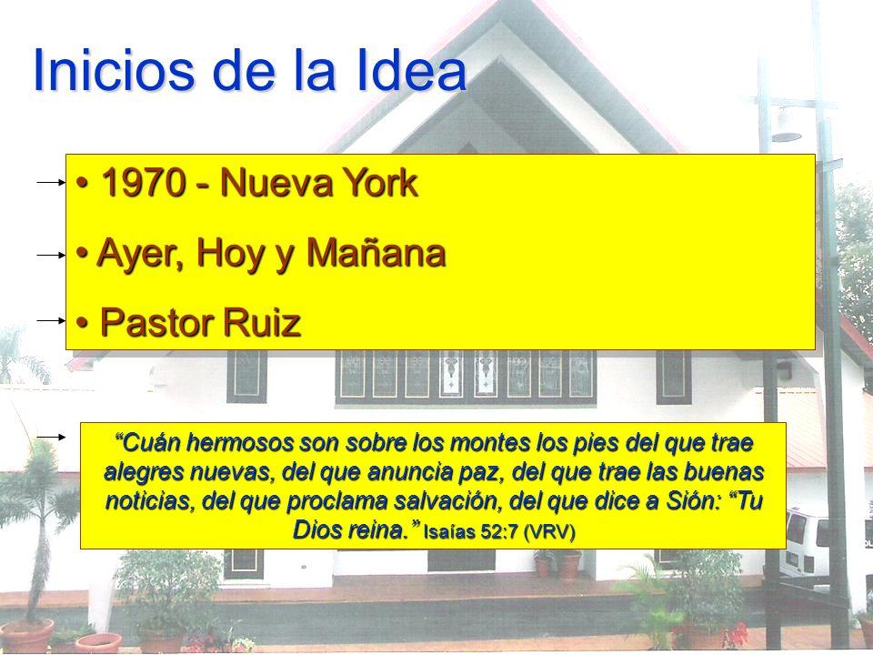 Inicios de la Idea 1970 - Nueva York Ayer, Hoy y Mañana Pastor Ruiz