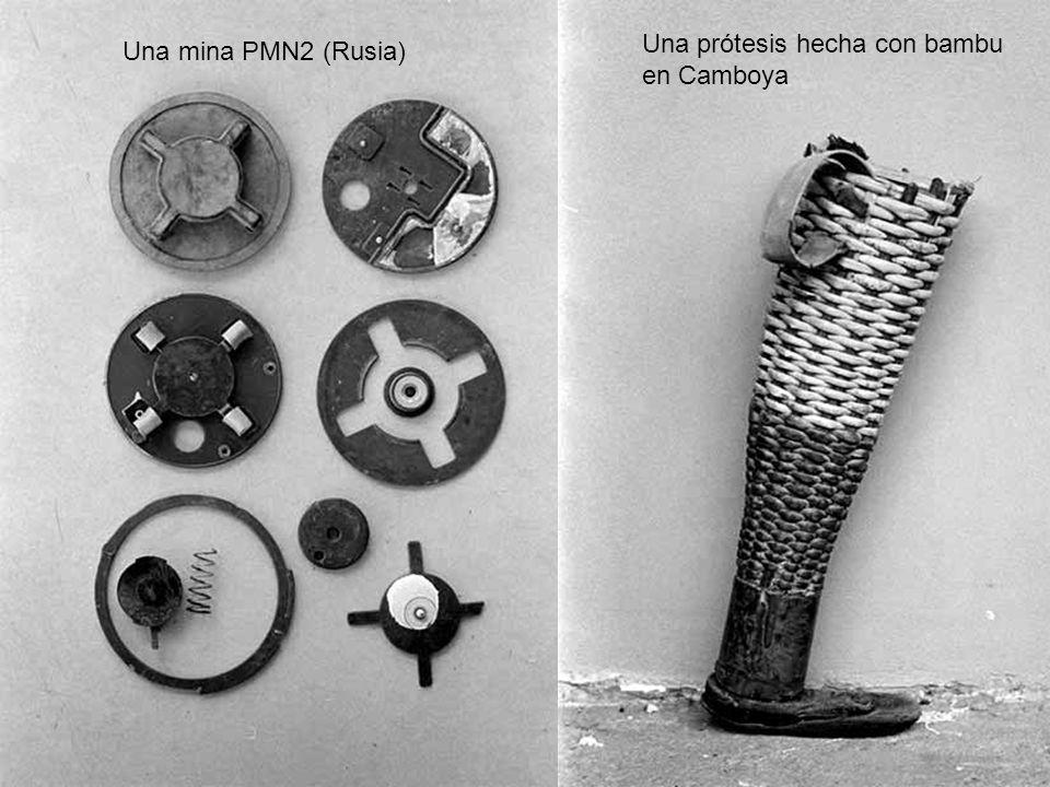 Una prótesis hecha con bambu