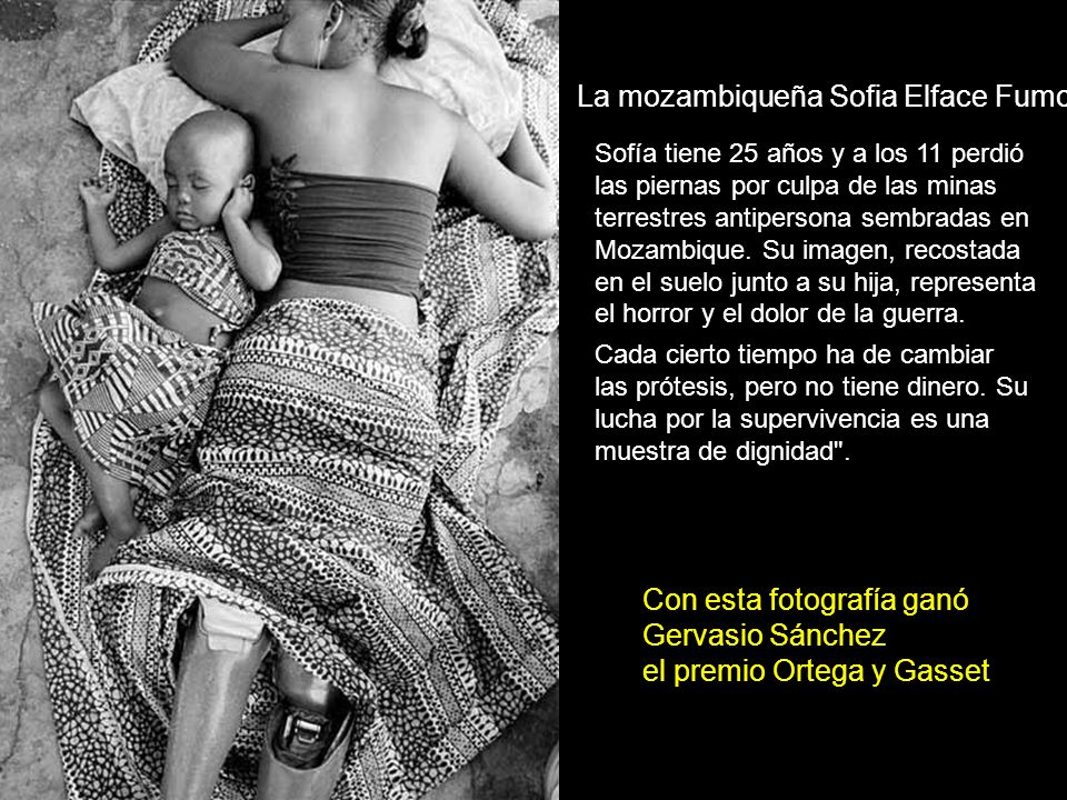 Con esta fotografía ganó Gervasio Sánchez el premio Ortega y Gasset