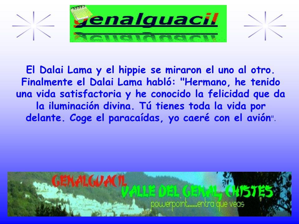 El Dalai Lama y el hippie se miraron el uno al otro