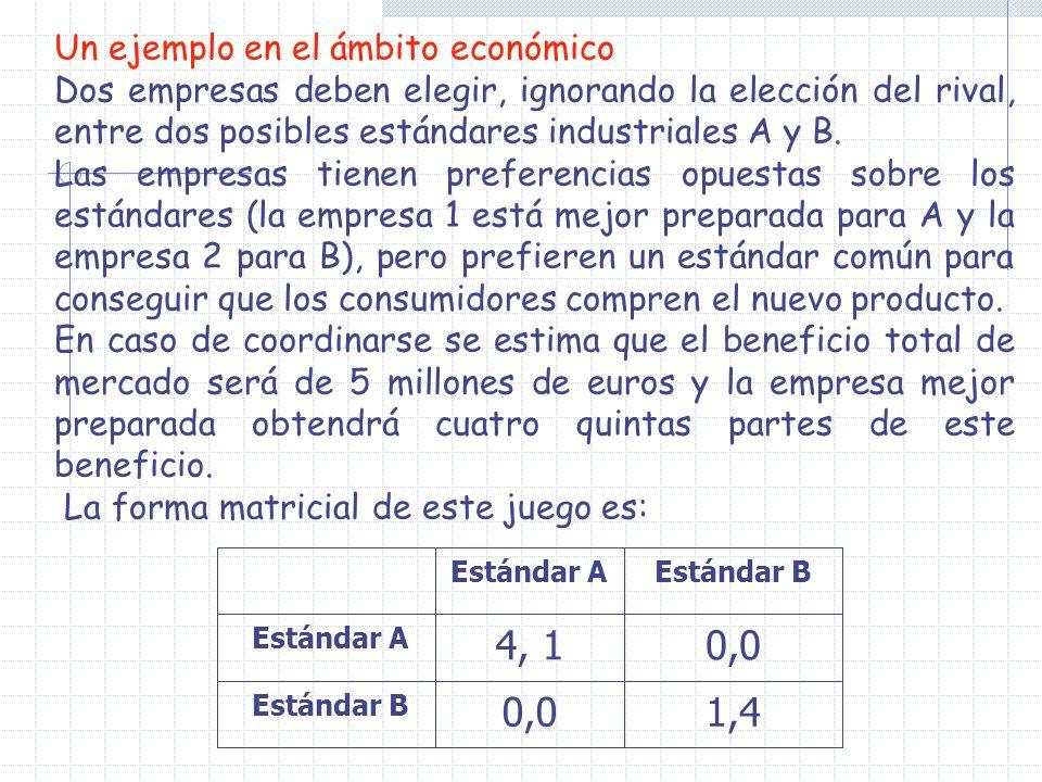 1,4 0,0 4, 1 Un ejemplo en el ámbito económico