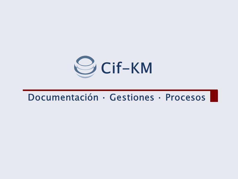 Cif-KM Documentación · Gestiones · Procesos