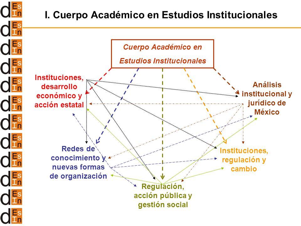 I. Cuerpo Académico en Estudios Institucionales