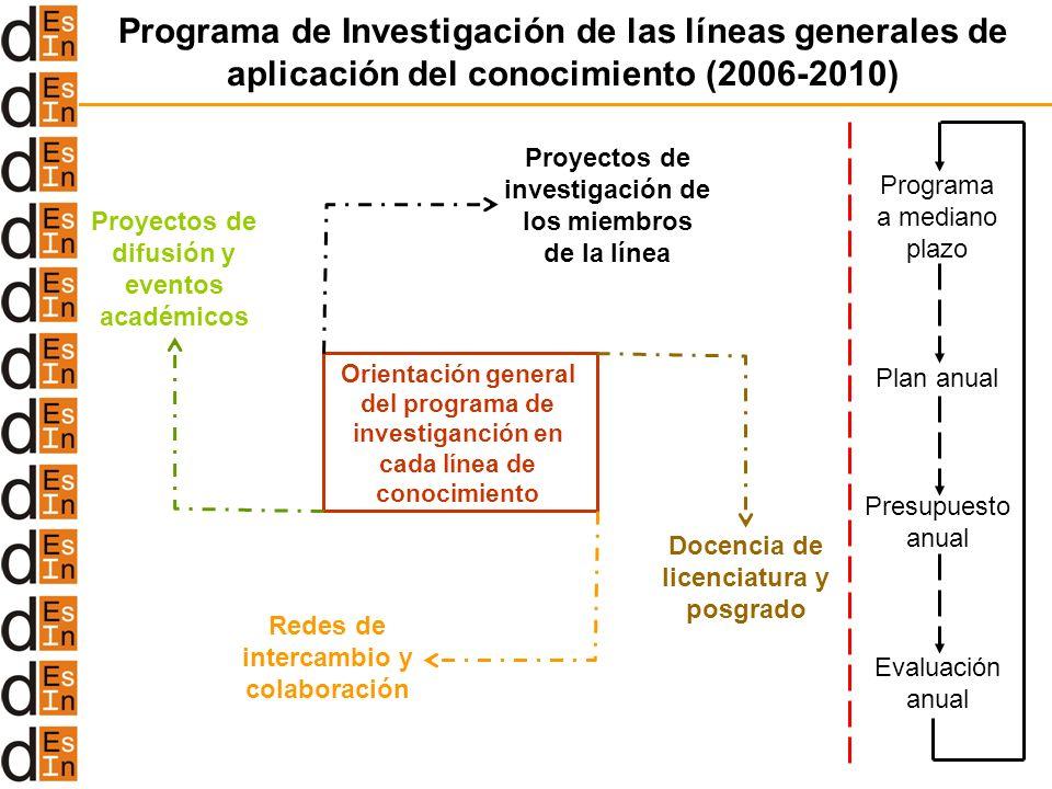 Programa de Investigación de las líneas generales de aplicación del conocimiento (2006-2010)
