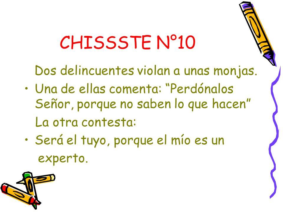 CHISSSTE N°10 Dos delincuentes violan a unas monjas.