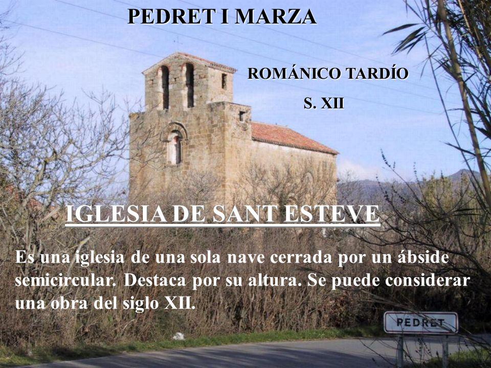 IGLESIA DE SANT ESTEVE PEDRET I MARZA