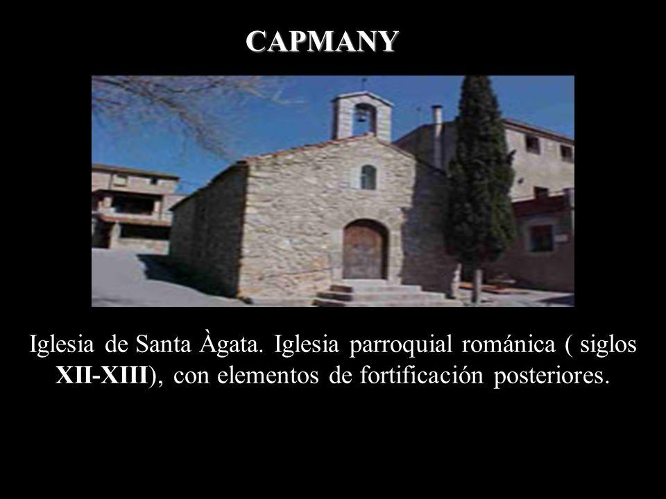 CAPMANY Iglesia de Santa Àgata.