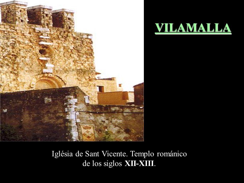 Iglésia de Sant Vicente. Templo románico de los siglos XII-XIII.