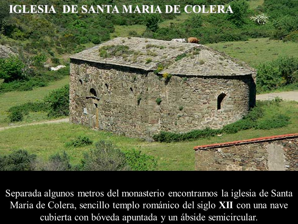 IGLESIA DE SANTA MARIA DE COLERA