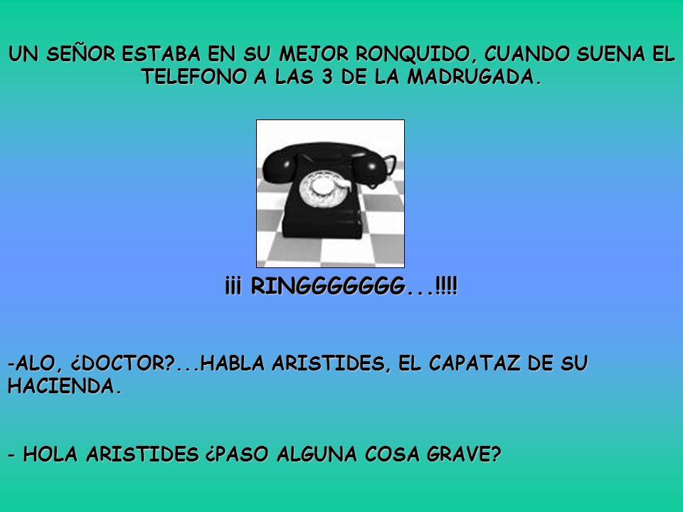UN SEÑOR ESTABA EN SU MEJOR RONQUIDO, CUANDO SUENA EL TELEFONO A LAS 3 DE LA MADRUGADA.