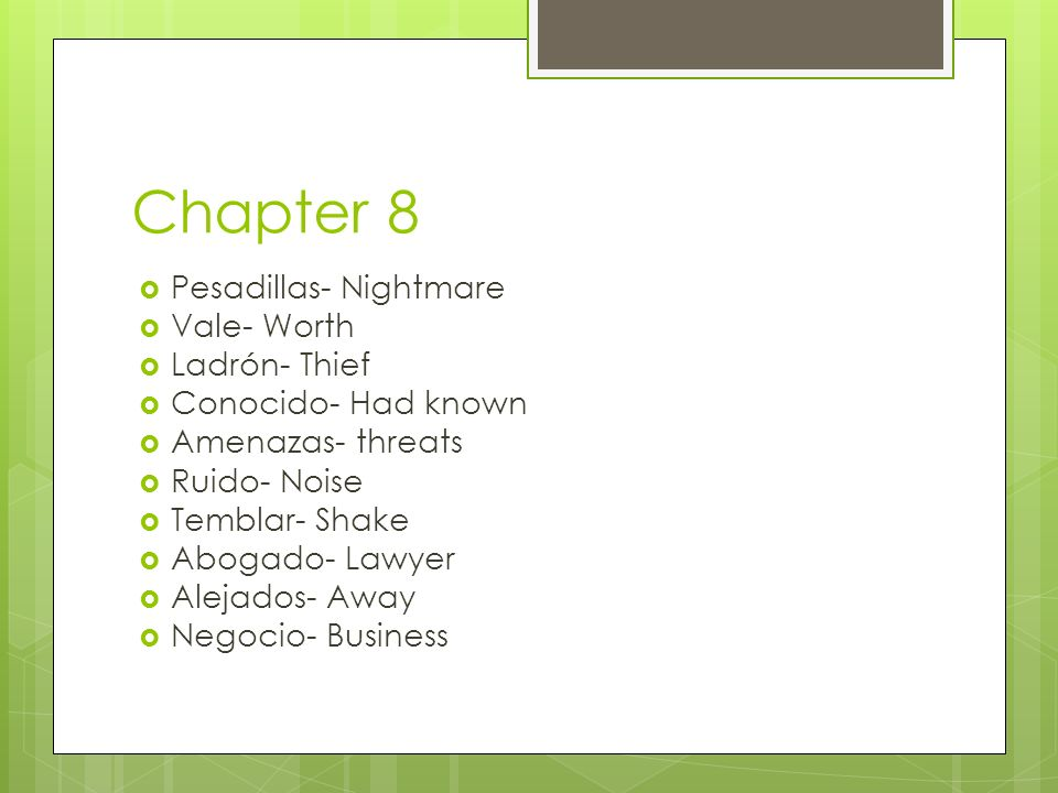 Chapter 8 Pesadillas- Nightmare Vale- Worth Ladrón- Thief