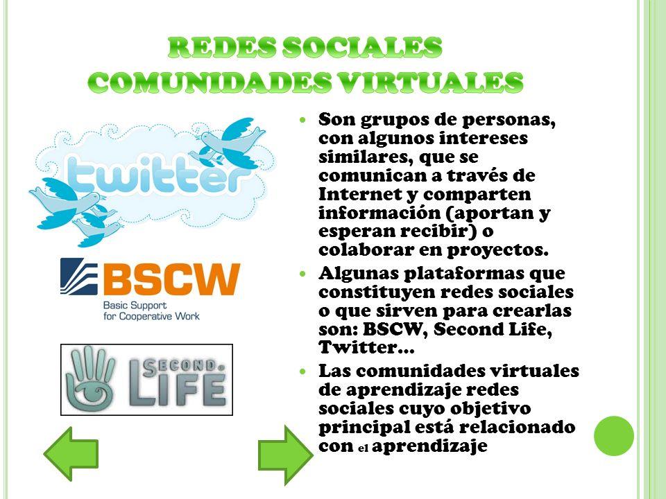 REDES SOCIALES COMUNIDADES VIRTUALES