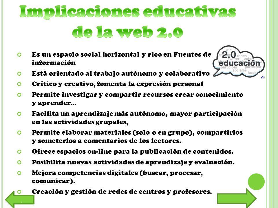 Implicaciones educativas de la web 2.0