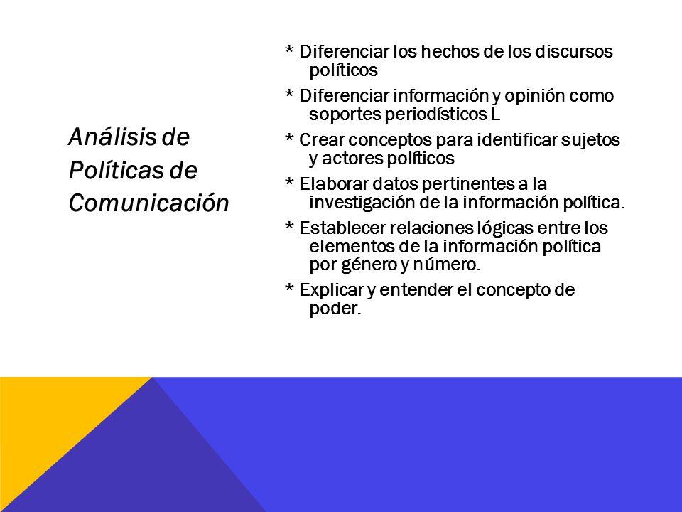 Análisis de Políticas de Comunicación