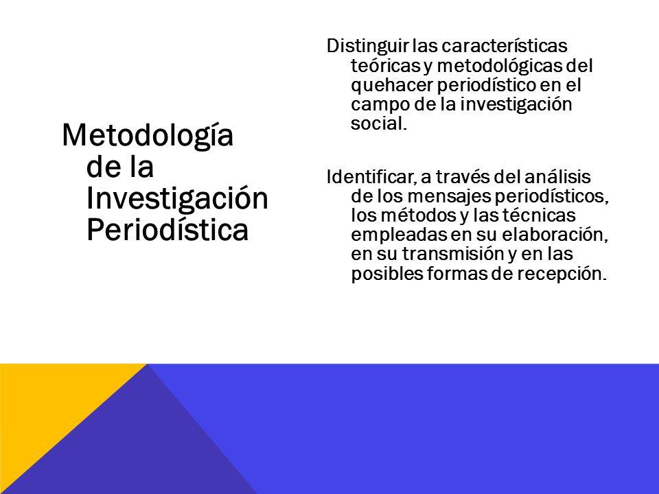 Metodología de la Investigación Periodística