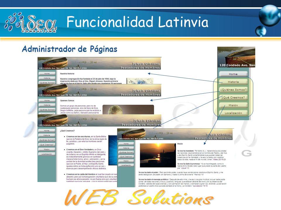 Funcionalidad Latinvia
