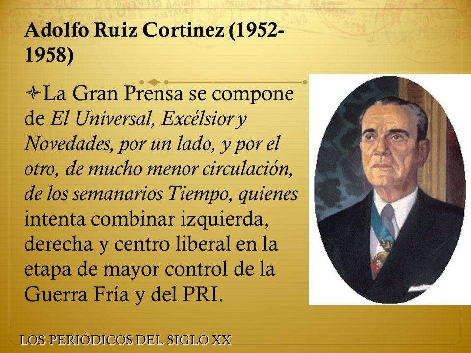 Adolfo Ruiz Cortinez (1952- 1958)