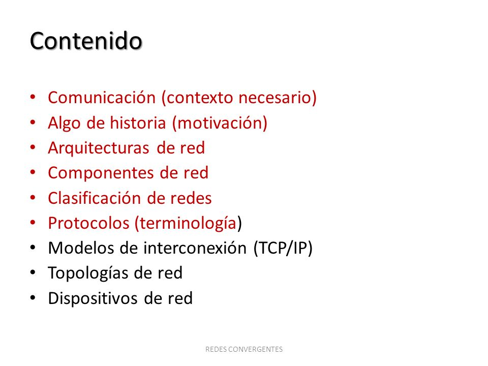 Contenido Comunicación (contexto necesario)