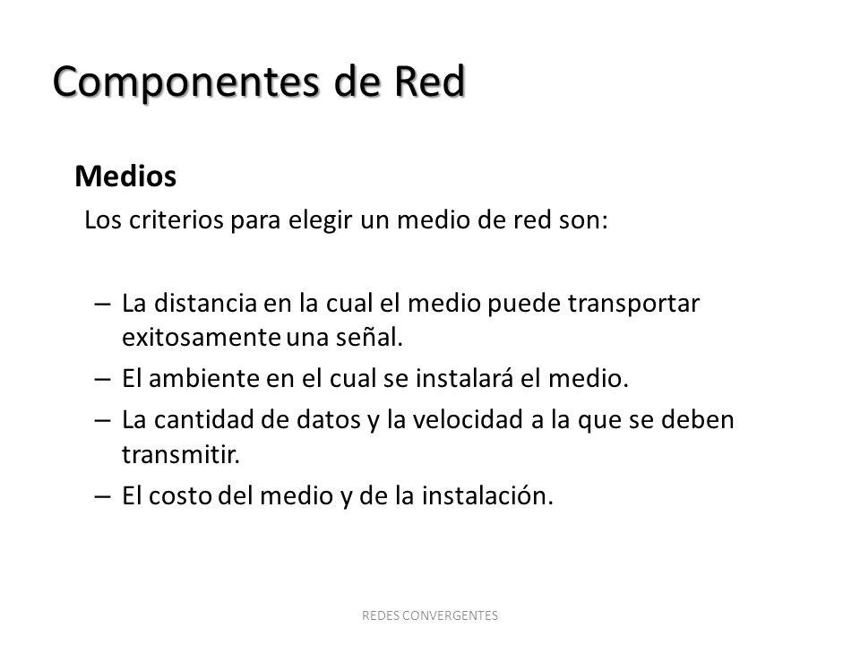 Componentes de Red Medios