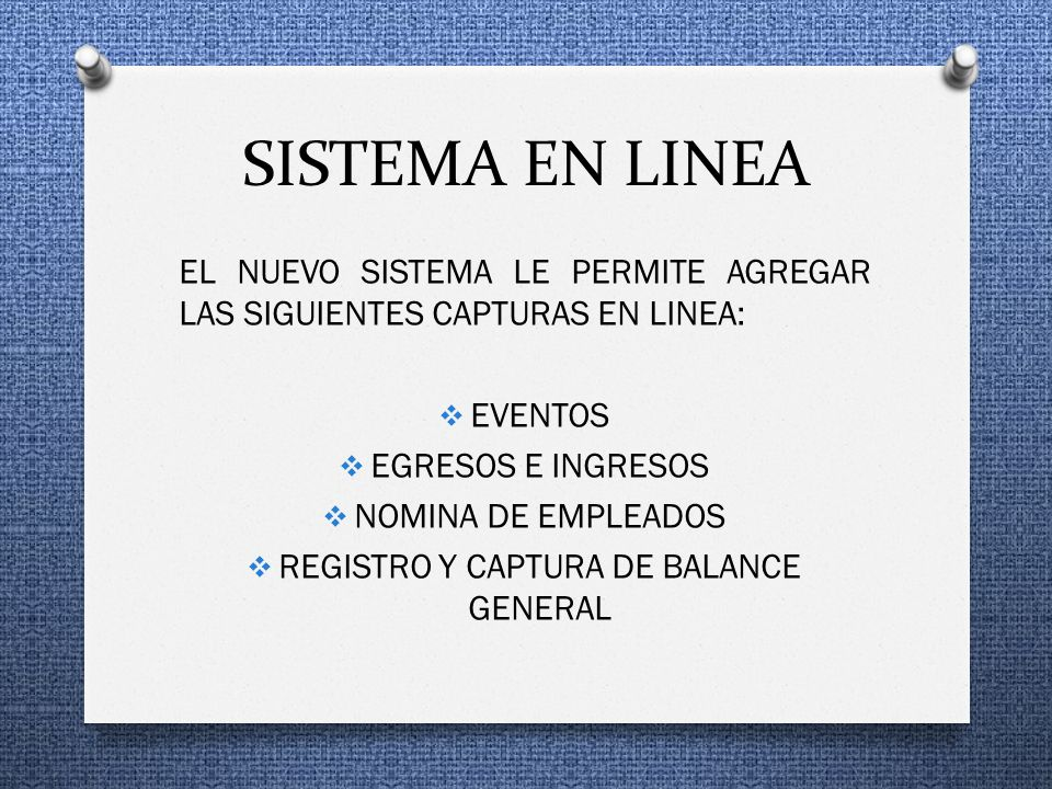 REGISTRO Y CAPTURA DE BALANCE GENERAL