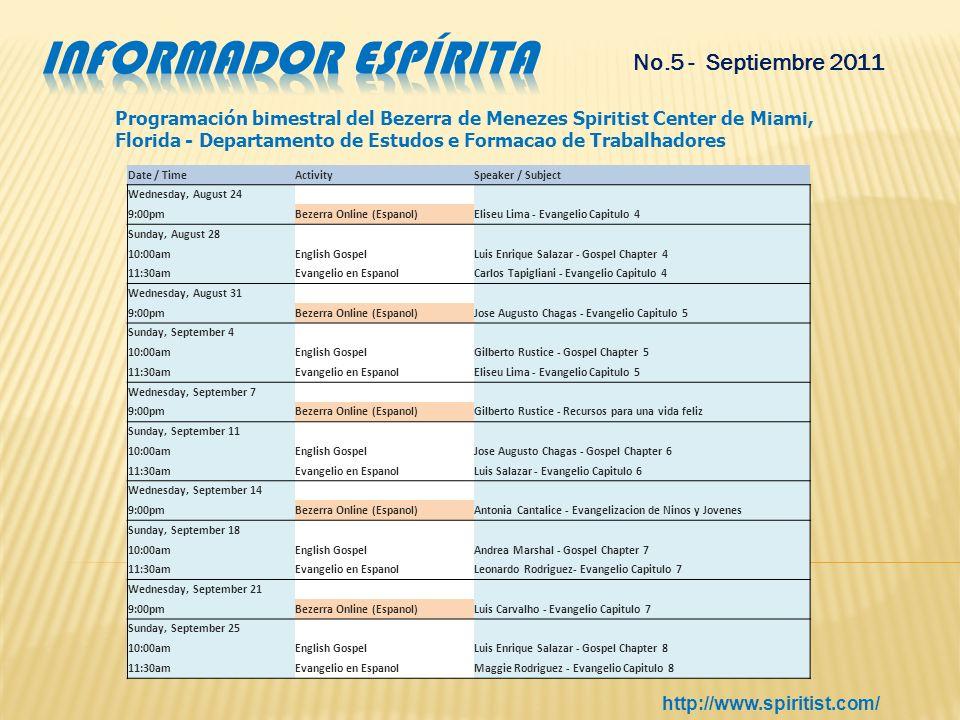 Informador espírita No.5 - Septiembre 2011