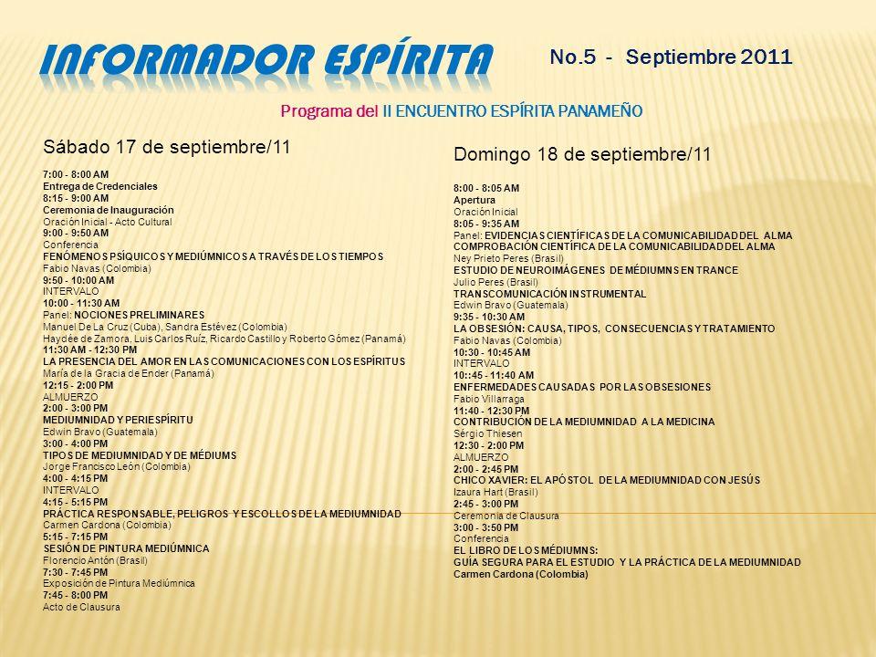 Programa del II ENCUENTRO ESPÍRITA PANAMEÑO