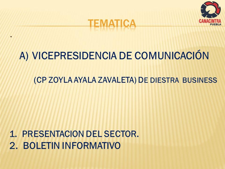TEMATICA VICEPRESIDENCIA DE COMUNICACIÓN . 2. BOLETIN INFORMATIVO