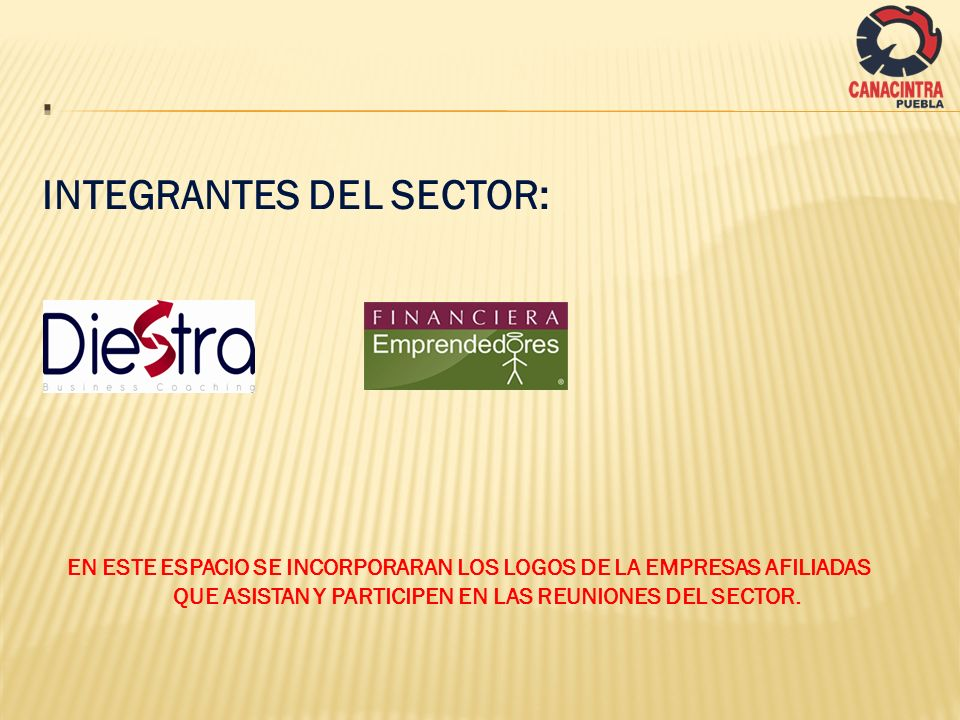. INTEGRANTES DEL SECTOR: