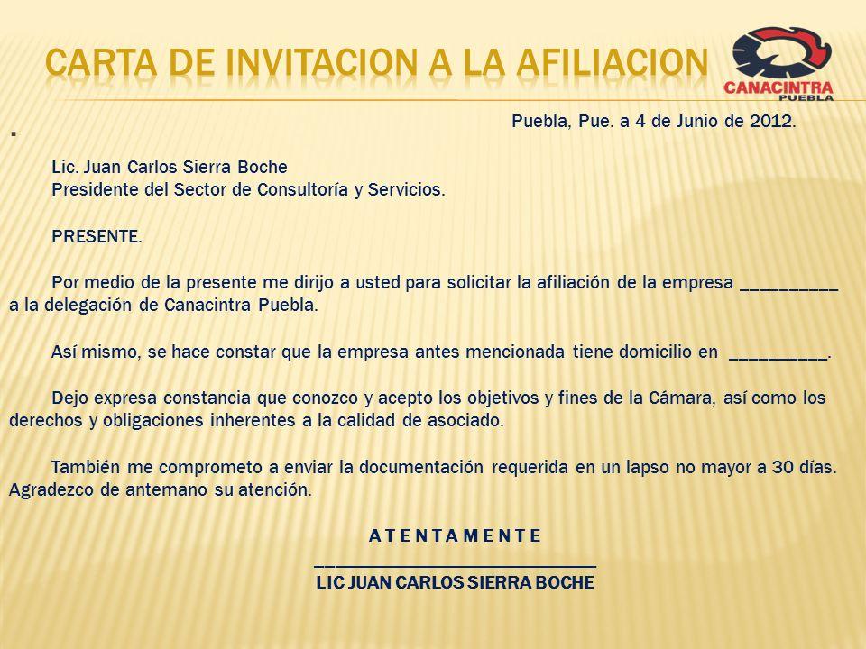 carta DE INVITACION A LA AFILIACION