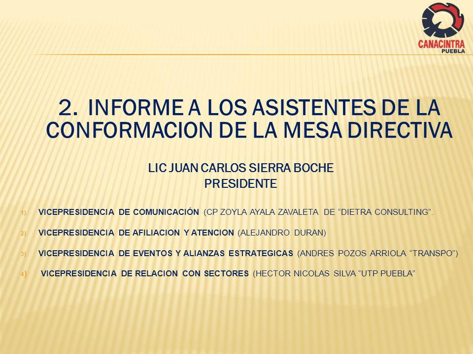 LIC JUAN CARLOS SIERRA BOCHE PRESIDENTE