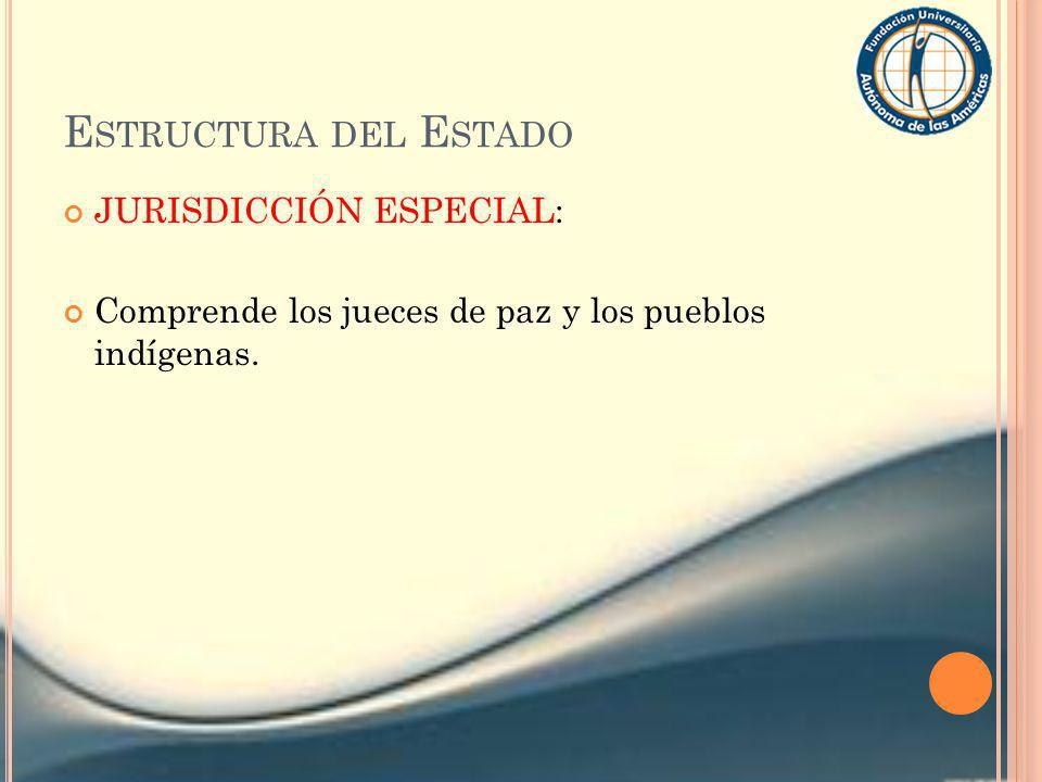 Estructura del Estado JURISDICCIÓN ESPECIAL: