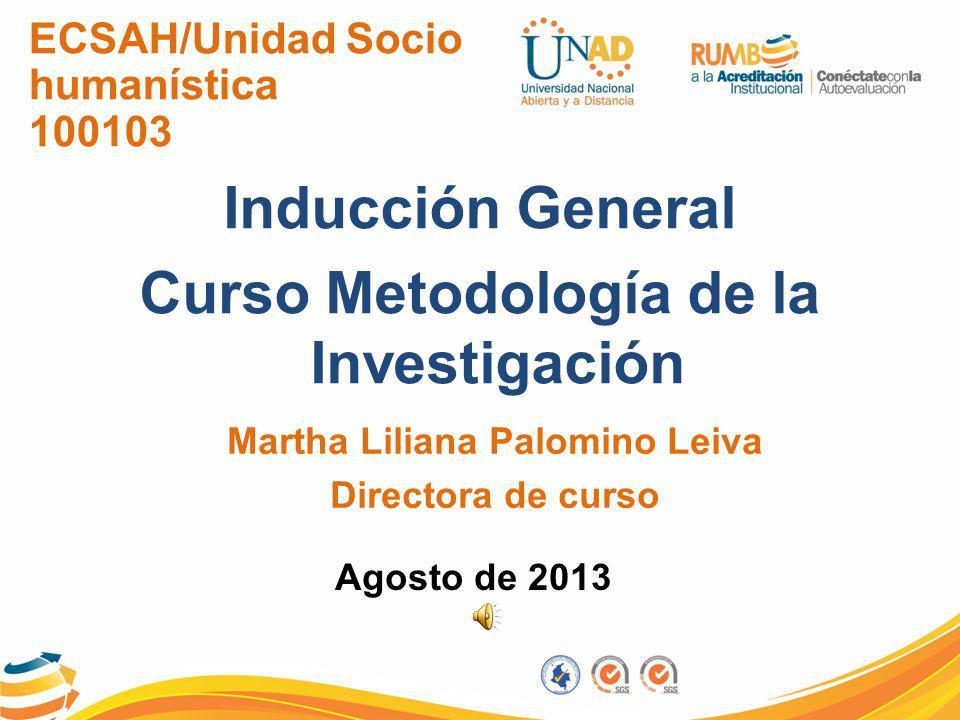 Curso Metodología de la Investigación Martha Liliana Palomino Leiva