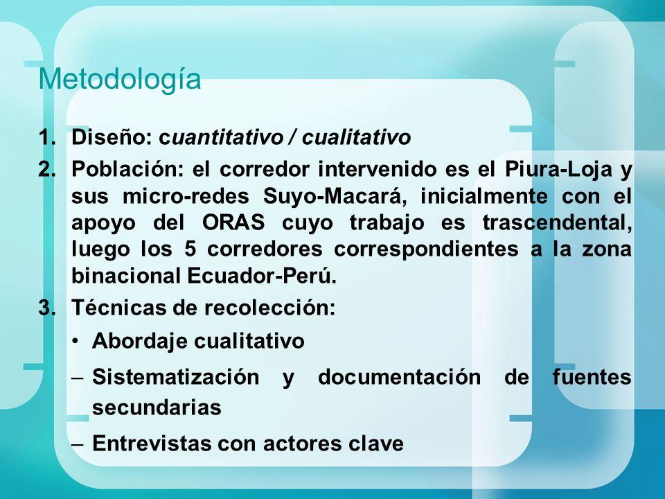 Metodología Diseño: cuantitativo / cualitativo