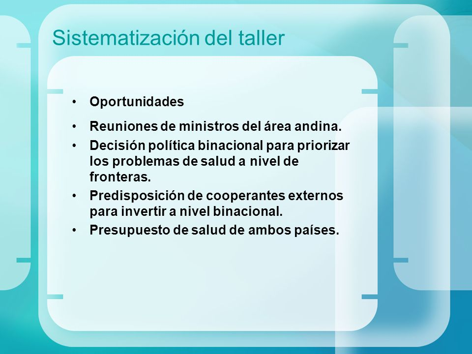 Sistematización del taller