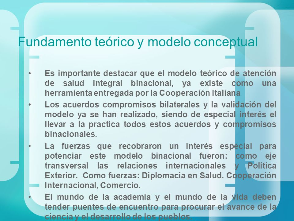 Fundamento teórico y modelo conceptual