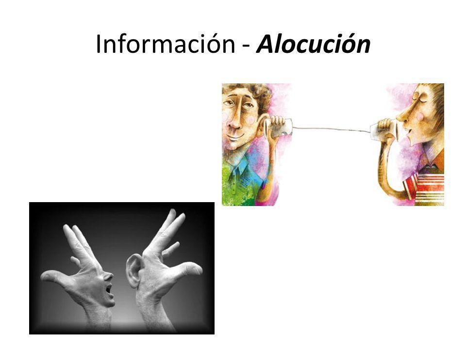 Información - Alocución