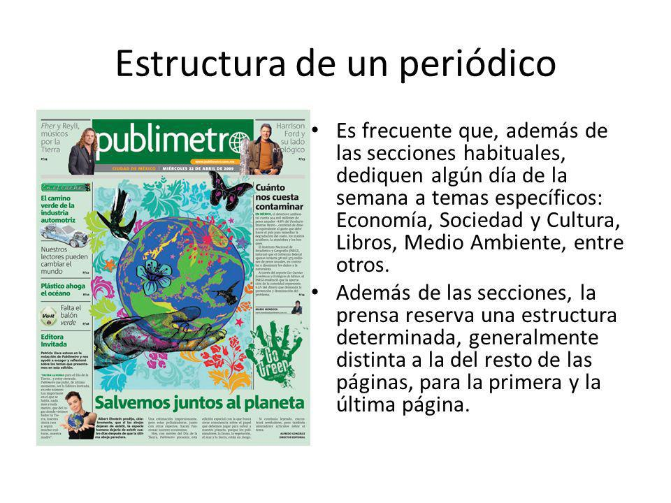 Estructura de un periódico