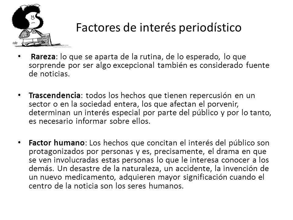 Factores de interés periodístico