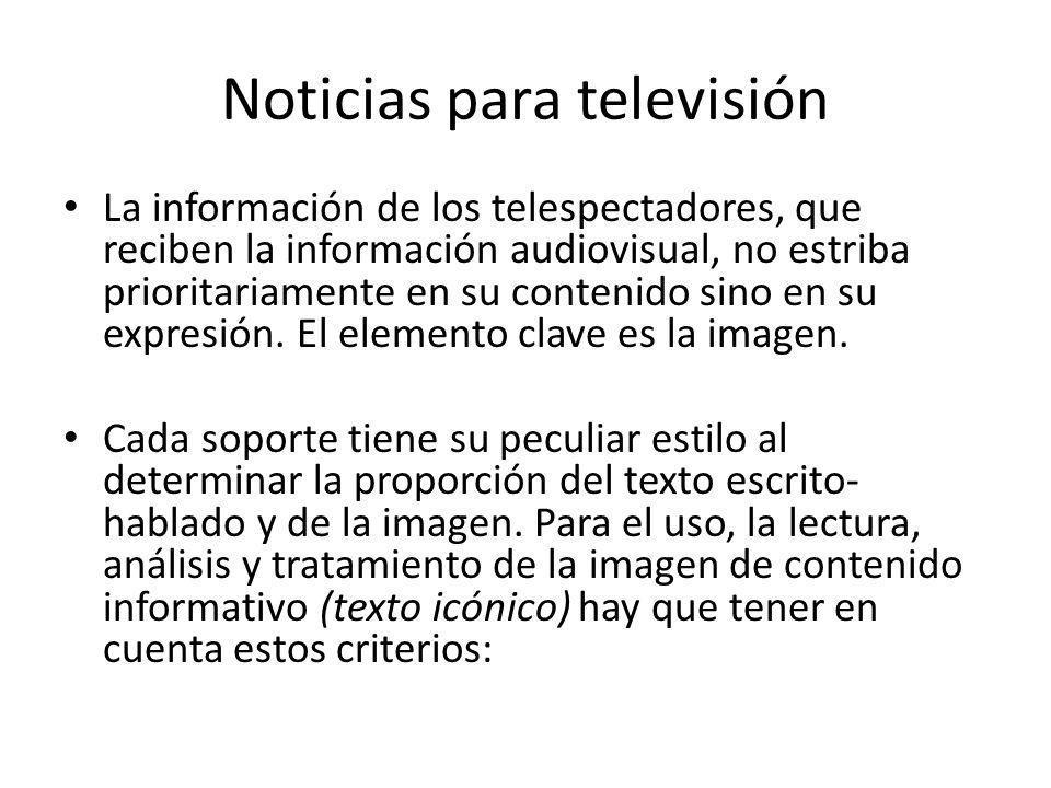 Noticias para televisión