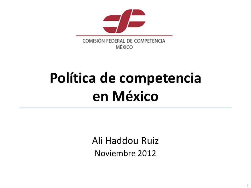 Política de competencia en México